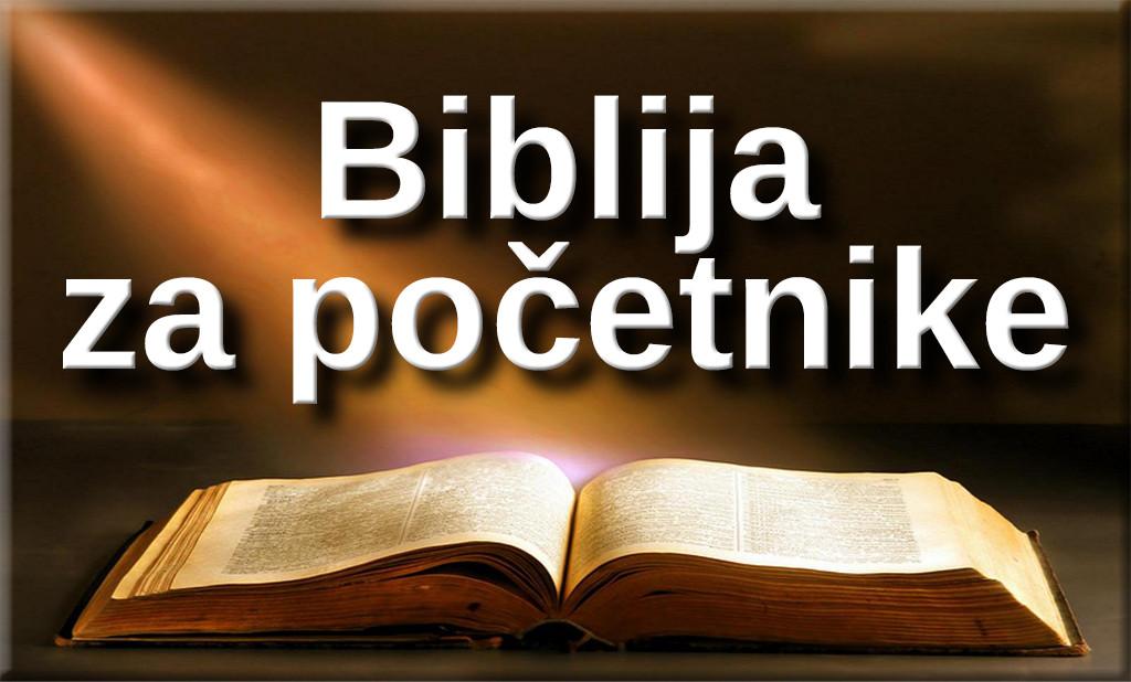 Biblija Za Početnike